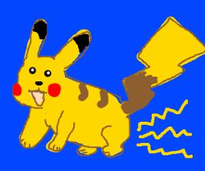 Pikachu farts lightning