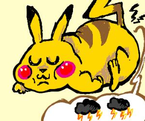Chubby Pikachu farts like thunder