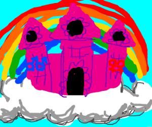 Pink gay castle