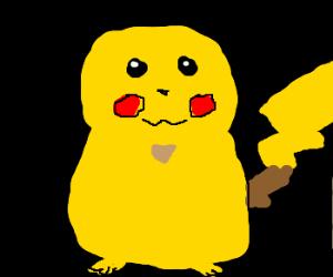 Pikachu minus arms and ears