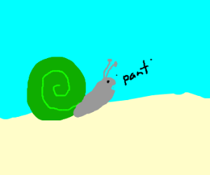 Snail running out of breath