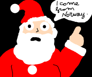 santa comes from norway