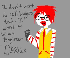 Ronald Mcdonald nerd