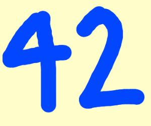 number 42 in blue color