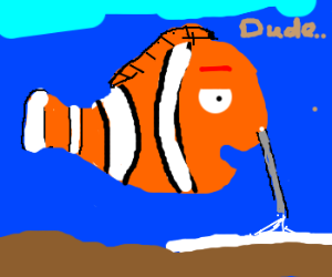 Pixar's Nemo is strung out on cocaine