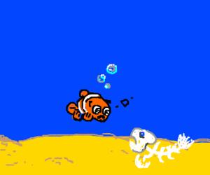 Nemo mourns fishbone