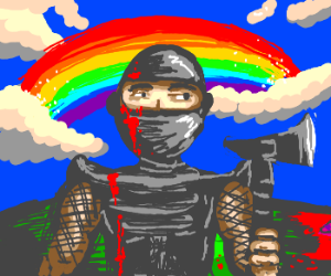 Rainbow-Tomohawk Ninja Warrior