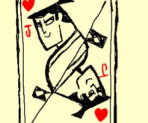 Samurai Jack of Hearts