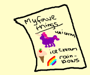 list of favorite things
