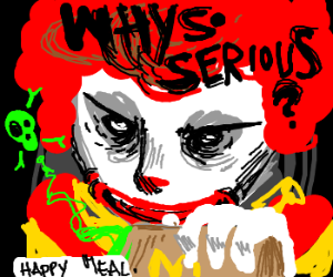 Bad McDonalds clown offers poisoned food