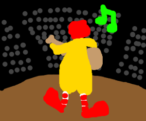 Ronald McDonald performs at the CMAs