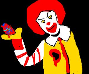 Ronald McDonald presents bodypart