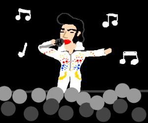 Elvis Presley sings!