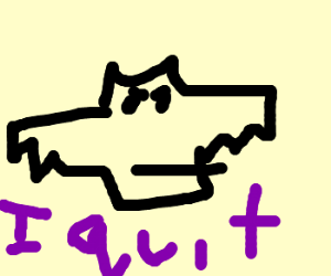 Batman quits because of Drawception