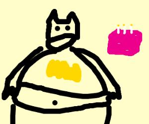 Batman bloats on his birthday