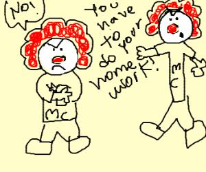 Ronald McDonald's son revolts