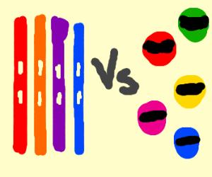 TMNT vs. Power Rangers