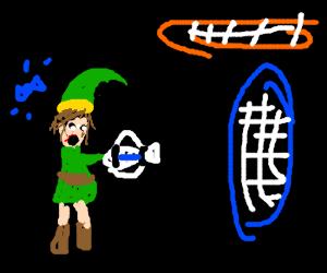 Link has the portal gun
