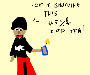 Ice T enjoying Iced Tea