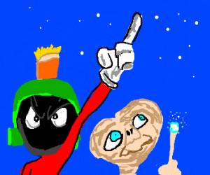 ET meets marvin the Martian