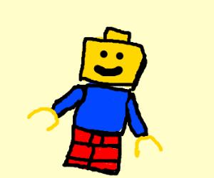 Blue shirted Lego man