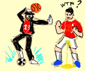 Michael Jordan (23) vs C. Ronaldo (7)