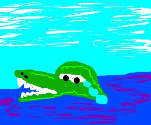 Crocodile tears.