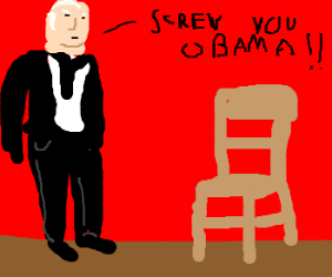 McCain yells at a chair in 2008