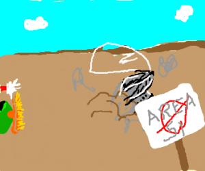 Marvin the Martian makes grave error