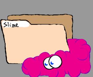 file folder with purple blob