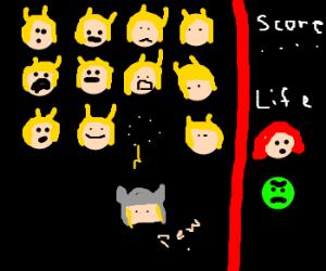 Avengers = Space Invaders (Atari)