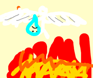 Angel drops a soul off in hell.
