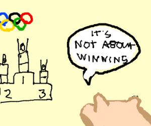 Pig loses ancient Olympics; happy anyway