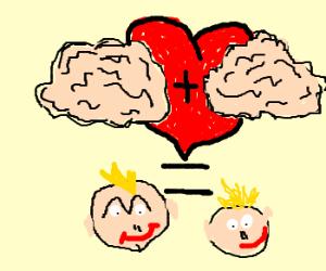 2 brains making babies