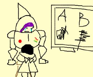 Buzz Lightyear cannot write