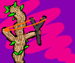 Stickman plays with a catapult.