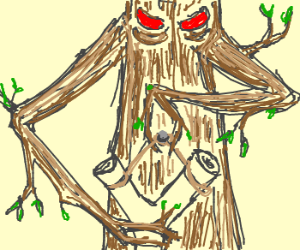 Tree with slingshot