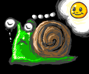 Snail doesnt want to be sad