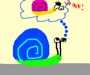 Snail thinks about a ;)