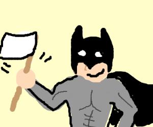 Batman surrenders/gives up