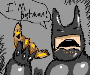 Happy Croissant Gets Eaten By Batman