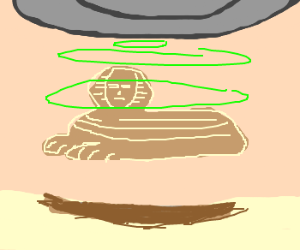 Aliens taking sphinx back