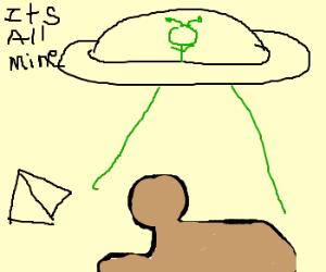 UFO steals sphynx