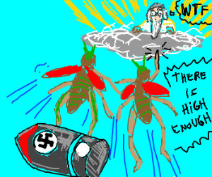 Grasshoppers bring nazi device to heaven