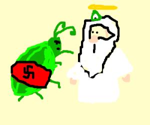 Nazi bugs attack God.