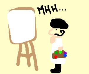 painter wonders what to draw next