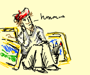 Pondering artist
