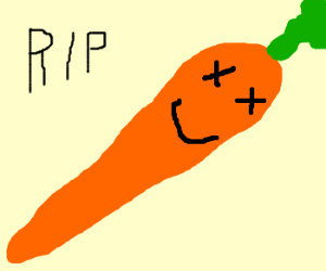 The carrot can now die happily.