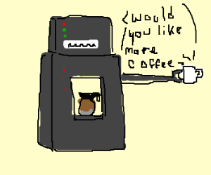 A robot that makes coffee and serves it!