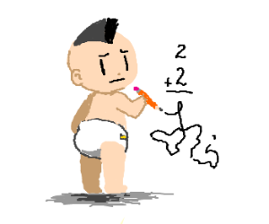 mohawk baby lacks math skills